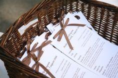 vigselprogram / Ceremony program - BröllopsGuiden