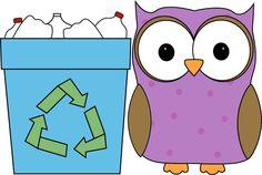 Owl Classroom Recycler Clip Art - Owl Classroom Recycler Vector Image