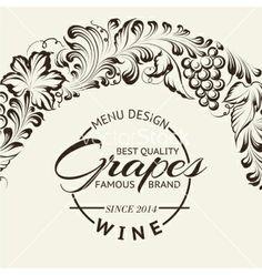 Wine list design layout on chalkboard vector 1912170 - by Kotkoa on VectorStock®