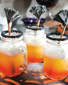Get the recipe for Grandin Road Witches Brew Party Punch - these Halloween drinks will knock your wicked thirsty guests right off their brooms!