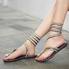 Fashion Women Flat Heel Bling Rhinestone Slingbacks Gladiator Sandals Shoes New