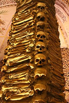 The BONE CHAPEL in Portugal - a UNESCO site off the beaten path http://www.heartofavagabond.com/evora-portugal/