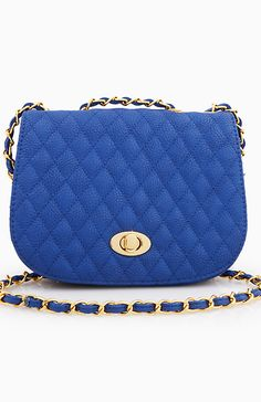 Quilted Mini Bag in Blue | DAILYLOOK