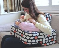 Our Piglet products are designed for twins, by a twin mum. The Piglet Twin Nursing Pillow enables mum to breastfeed twins in tandem, both mum and babies are supported. comfortably. Our twin changing bag has been created so mum can be handsfree!