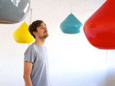 Hand & Eye Studio founder Tom Housden is definitely a designer to watch. Check out his stunning new Bright Things pendant lights