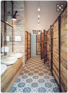 Look and feel of customer bathrooms?                                                                                                                                                                                 More