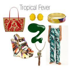 Tropical print fashion