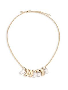 Alexis Bittar - Lucite Luna Small Chevron Bib Necklace
