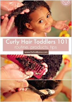 Curly hair toddlers are the most adorable of all! This curly hair guide includes our mixed hair care routine for toddlers with curly hair, best hair products for toddlers with curly hair and a few of our favorite biracial toddler hairstyles too. Toddler Curly Hair, Curly Hair Baby, Mixed Curly Hair, Mixed Hair Care, Curly Hair With Bangs, Curly Hair Tips, Short Curly Hair, Baby Curly Hair Products, Wavy Hair