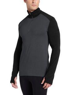 Icebreaker Tech - Camiseta de compresión de manga larga para hombre (térmica, media cremallera) gris negro Talla:medium #camiseta #realidadaumentada #ideas #regalo