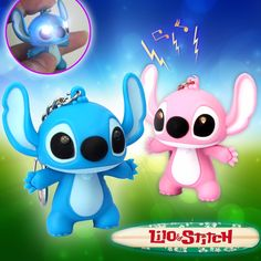 New Arrival Lilo & Stitch LED Doll Cartoon Movie Flashlight Toy with Sound Cute Action Figure Toys New Year Baby Creative Gifts