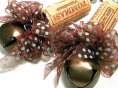 Wine cork tree ornaments