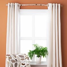 Good Housekeeping, Idea File -- birch branch curtain rod