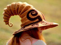 Custom Silhouette Wide Brim Witch Hat. Wizard by HandiCraftKate