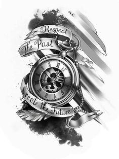 4x3 inch clock Custom Fake Tattoos