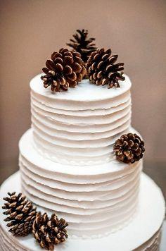 Pine Cones Wedding Cake.