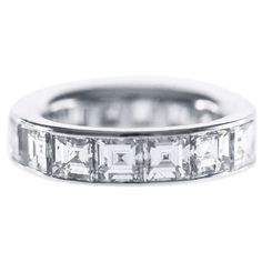 Graff Diamond Platinum Eternity Band Ring | From a unique collection of vintage band rings at https://www.1stdibs.com/jewelry/rings/band-rings/