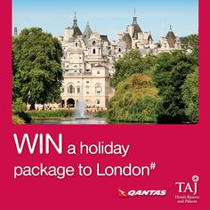 Enter the draw to win a holiday package to London including two return flights and two nights at St James Court http://goo.gl/S9tvI6