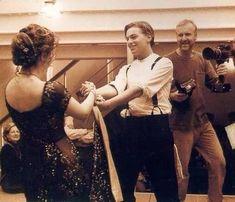 Titanic dancing scene.