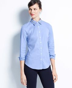 Jeweled Collar Shirt