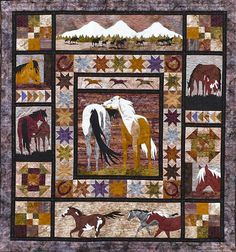 Horsin' Around quilt pattern from logcabinquiltworks.com