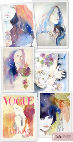 Love the colors and the watercolor style