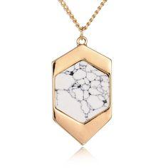 white howlite necklace - Google 搜尋