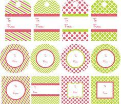 カラフル:ピンク&グリーン