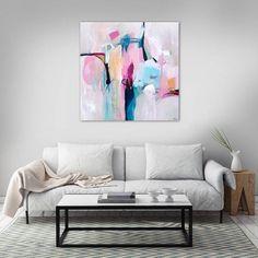 minimalist abstract painting extra large wall by SarinaDiakosArt