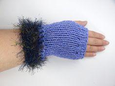 Fingerless Gloves Fuzzy Trim