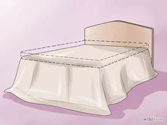 How to Make a Bed Skirt. A bed skirt, also called a dust ruffle, is a traditional bed dressing that covers the box spring and expands to the floor. Bed skirts come in a variety of styles, and can be bought or made. How To Make A Bean Bag, How To Make Bed, Camas King, How To Dress A Bed, Simple Bed, Dust Ruffle, Buy Bed, Round Tablecloth, Sewing Projects For Beginners