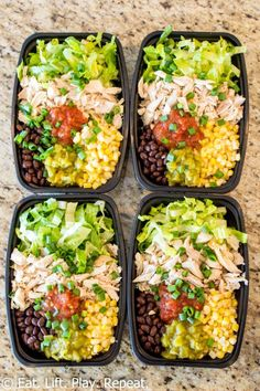 No-Cook Meal Prep Burrito Bowls Meal prep burrito bowls make a great lunch to last the week, plus this version requires zero cooking! Have a healthy lunch ready for the week in 10 minutes! keto lunch No-Cook Meal Prep Burrito Bowls - New Ideas Clean Eating Dinner, Clean Eating Snacks, Healthy Snacks, Healthy Eating, Lunch Snacks, Eating Habits, Healthy Cooking, Healthy Work Lunches, Healthy Low Carb Meals