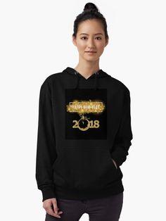"""2018 New Year-Gold life"" Lightweight Hoodie by sabahi4u   Redbubble"