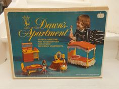 Vintage 1970s Topper Dawn Doll Apartment Furniture with Box