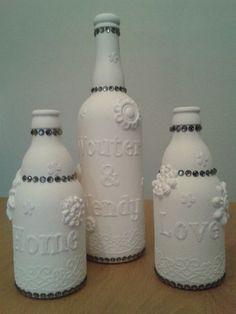 Gesso creaties voor decoratie op een bruiloft.