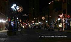 Downtown Battle Creek Michigan at night.  Magical.