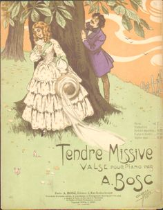A.Bosc Tendre missive         cover art clerice freres
