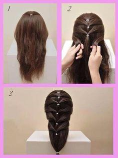 Trendy Hair Styles Trenzas Paso A Paso 43 Ideas Little Girl Hairstyles, Cute Hairstyles, Braided Hairstyles, Hairstyle Photos, Black Hairstyles, Different Braids, Toddler Hair, Hair Hacks, Hair Inspiration
