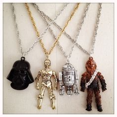 DARTH VADER - Authentic NOS Vintage 70s Star Wars Necklace. $34.00, via Etsy.
