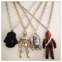 DARTH VADER - Authentic NOS Vintage 70s Star Wars Necklace. $34.00, via Etsy.