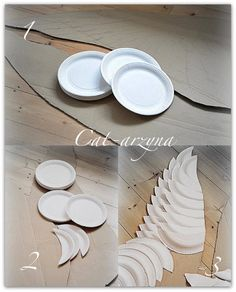 Angel wings made from white paper plates!