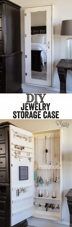 Craft Project Ideas: DIY Jewelry Organizer!!                              …