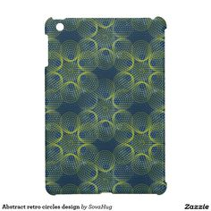 Abstract retro circles design iPad mini cases