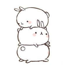 Molang by BubbleTeaAndCookies ❤ liked on Polyvore featuring filler, kawaii, bunnies, phrase, quotes, saying and text