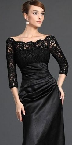Black Lace Evening Gown its on the short list for ball! wish they would put the…