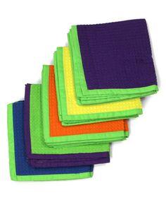 Look what I found on #zulily! Purple & Green Dishcloth - Set Of Ten #zulilyfinds