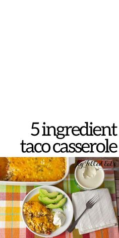 This easy Keto Taco Casserole recipe really hits the spot. With only 5 ingredients and a 5 minute prep time, it is a lifesaver on busy weeknights. My taco casserole recipe is great for a keto or low carb diet. It is also gluten-free, grain-free, and Trim Healthy Mama friendly. Taco Casserole Low Carb, Low Carb Casseroles, Casserole Dishes, Casserole Recipes, Sugar Free Recipes, Gluten Free Recipes, Low Carb Recipes, Beef Recipes, Joy Filled Eats