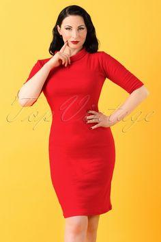 Heart of Haute ~ 60s Super Spy Dress in Red #AvaElderwood