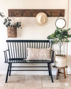 "World Market on Instagram: ""We're crushing on this entryway by @casabanos_ featuring our popular Kamron Bench. (link in profile to shop) #WorldMarket #HomeDecor"""