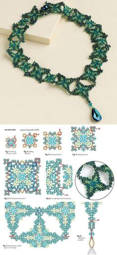 Beaded Renaissance Necklace PATTERN #cbloggers #fbloggers #lbloggers #bbloggers